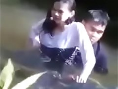 northeast indian couple sezx in river caught